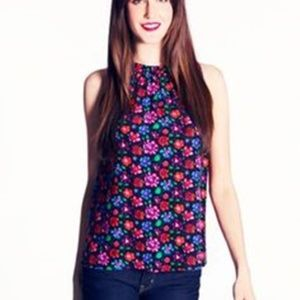 Kate Spade Selena Tank Top Floral Sleeveless Blous